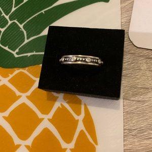 Pandora New Retired White CZ Stacking Ring